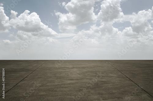 Leinwandbild Motiv Empty Concrete Road