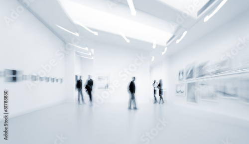 people in the art gallery center - 81788880