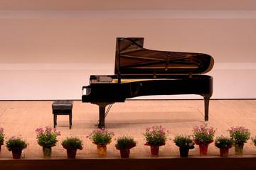 コンサート会場のピアノ