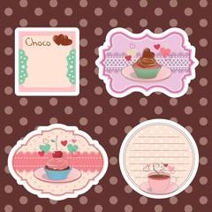etiqueta, selo, adesivo, cupcake, bolo, chá 02