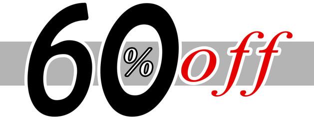 60 % off