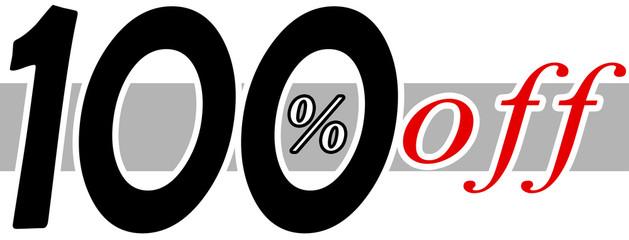 100 % off
