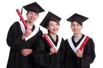 group of happy graduates student