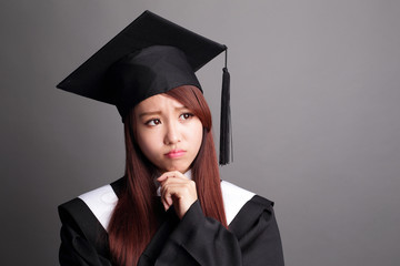 graduate student woman think