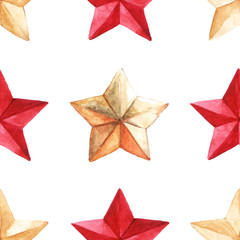 Medal star military seamless pattern background