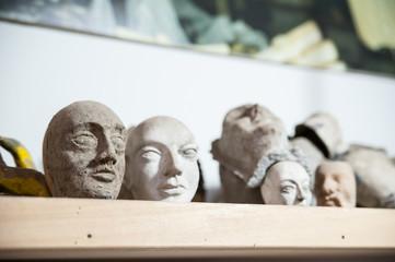 Sicilian puppets' heads
