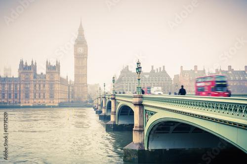 Fototapeta Big Ben and westminster bridge