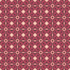 Vintage dark brown and pink colors seamless pattern