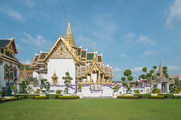 Traditional Thai architecture Grand Palace in Bangkok, Thailand