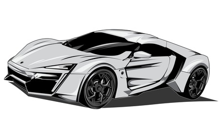WHITE LYKAN HYPERSPORT