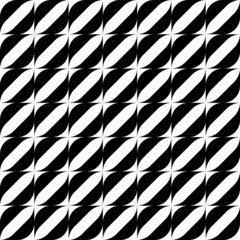 Black and white geometric seamless pattern with stripe.
