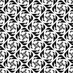 Black and white geometric seamless pattern twist stylish.