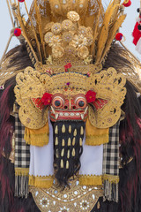 Traditional Balinese Barong mask in Indonesia