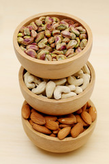 Almonds,cashew nuts, pistachio