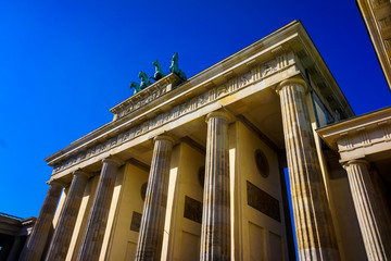 The Famous Brandenburg Gate In Berlin. Germany