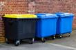 Recycle Bins. Three plastic bins - 81795602