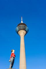 TV Tower in Medienhafen.  Duesseldorf, Germany