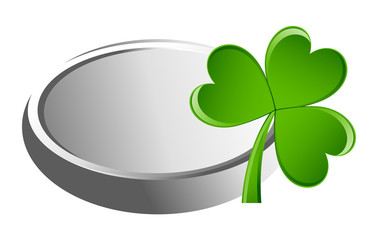 Silver Coin with Shamrock