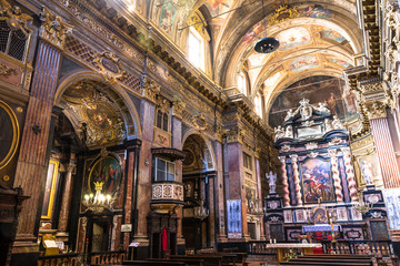 The interior of San Francesco da Paola Church in Turin