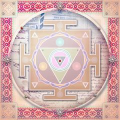 Ethnic and mandala mystic background