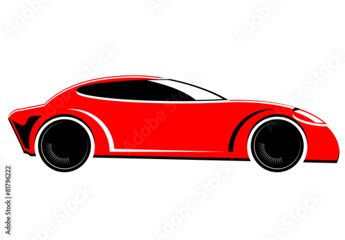Tuinposter F1 Red sports or race car vector image
