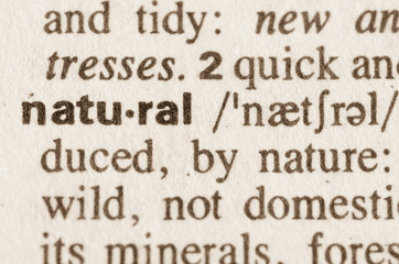 Dictionary definition of word natural
