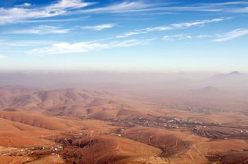 Central Fuerteventura, Canary Islands, view north from Mirador d