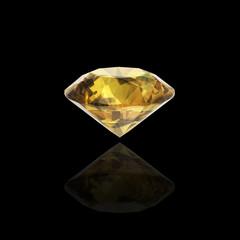 golden diamond on black background
