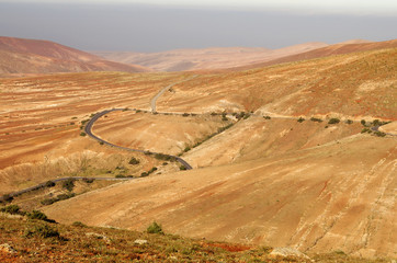 Central Fuerteventura, Canary Islands, view from Mirador de Guis