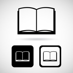 Book icon, Vector illustration