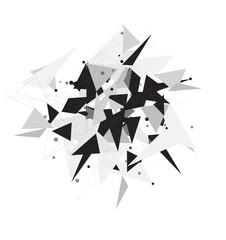 Network Polygonal background.Vector design illustration EP10