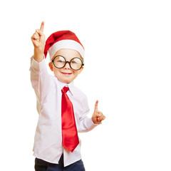 Kind als Weihnachtsmann meldet sich
