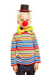 Kind als Clown zum Karneval