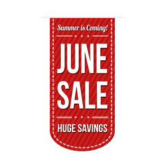 June sale banner design