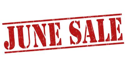 June sale stamp