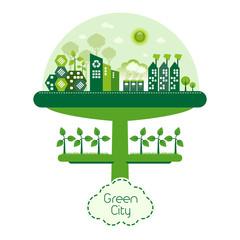 Green Futuristic Eco City