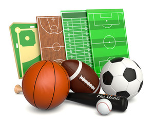 sport ball and fields