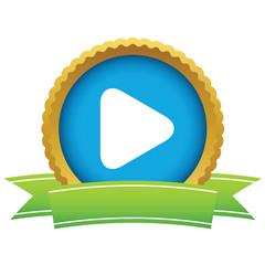 Gold play logo