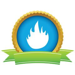 Gold fire logo