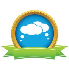 Gold dialog logo