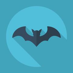 Flat modern design with shadow bat