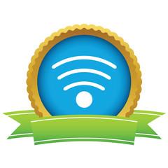 Gold wi-fi logo