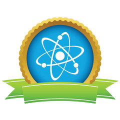 Gold atom logo