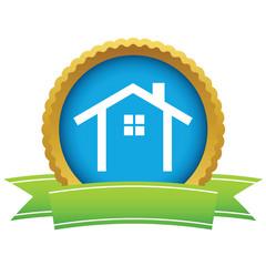 Gold building logo
