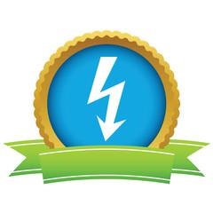 Gold lightning logo