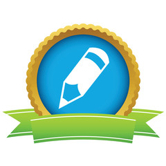 Gold pencil logo
