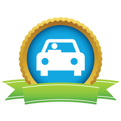 Gold car logo