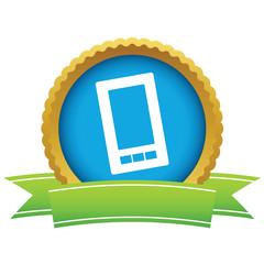 Gold smartphone logo