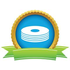 Gold disk logo