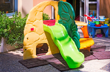 Playground for children in the resort.